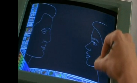 Mobile in the Classroom in Starship Troopers.